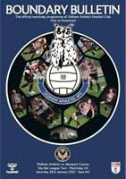 * 2020/21 - OLDHAM ATHLETIC HOME PROGRAMMES - CHOOSE FROM LIST *