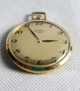 Vintage Rotary Gold Toned Mechanical Pocket Watch