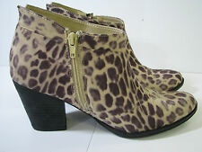 COCONUTS by MATISSE Leopard Print MOONLIGHT ANKLE SHORT BOOTS Side Zipper SZ 8 B