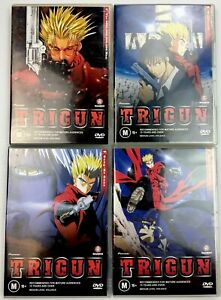 Trigun Vol 1, 3, 4, 5 $60..., Wolfwood, Gung-Ho Guns, Angel Arms R4 Anime DVD