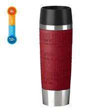 Emsa 515617 Isolierbecher Travel Mug Grande Quick Press Verschluss 500 ml Rot