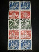Swedish stamps block of 10 Steamship circa 1936 from 1966 svenska flottan