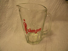 VINTAGE SLIM JIM Brand Advertising Beer  Soda Pitcher Bar Kitchen  Heavy Glass