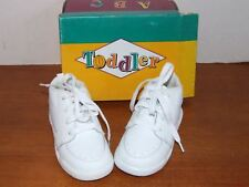 Toddler White Leather Walking Shoes Size 8