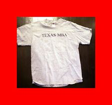 LIKE NËW LARGE L UNIVERSITY TEXAS/AUSTIN MBA TSHIRT T-SHIRT GRAY MASTERS BUSINES