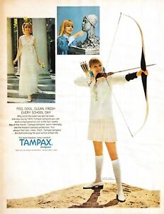 1968 Tampax Tampons Vintage Print Ad For Total Freedom Total Comfort