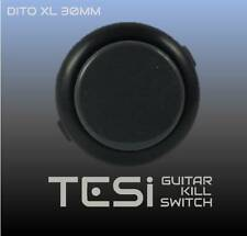 Tesi DITO XL Snap In 30MM Arcade Button Guitar Kill Switch - Black/Grey