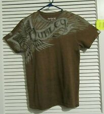 Hurley Tee shirt men size S Brown short sleeve graphic