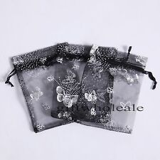 Organza Jewelry Candy Butterfly Gift Pouch Bags Wedding Party Xmas Favors Decor