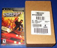 Lot of 4 (Case) Pursuit Force Sony PSP *New! *Factory Sealed! *Free Shipping!