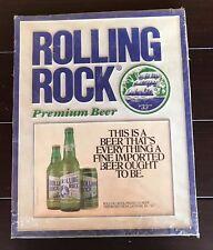 Rolling Rock Beer - Plastic Bar Wall Sign - Premium Beer Latrobe, PA 33