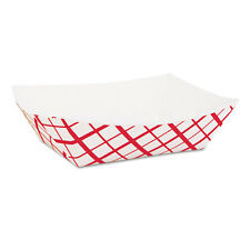 SCT Paper Food Baskets 1lb Red/White 1000/Carton 0413