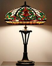 Tiffany Style Table Lamp Handcrafted Glass Light Stained Art Desk Bedside Lamps