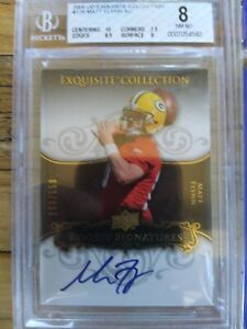 2008-09 MATT FLYNN UD Exquisite Collection Auto # 49/150 GB PACKERS RC BGS