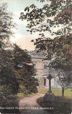 BURNLEY LANCASHIRE UK OLD CROSS TOWNELEY PARK~BRUN SERIES POSTCARD 1906 PMK