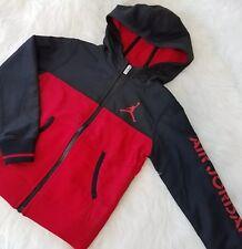 Air Jordan Kids Boys Jacket Full Zip Sz 5  Red Black School Sport C6