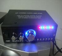 Car Bluetooth Amplifier USB TF FM DVD MP3 AUX HiFi Stereo Power Audio Player