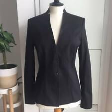 Elie Tahari Tori Notched Jacket Black Size 2 Fits S or Smaller M