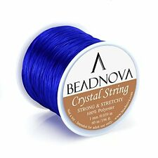 Elastic Stretch Beading Cord Bracelet String Thread Roll Jewelry Making - Blue