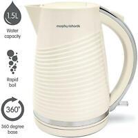 Morphy Richards Jug Kettle Dune 1.5L - 3kW Rapid Boil & Cordless - Gloss Cream