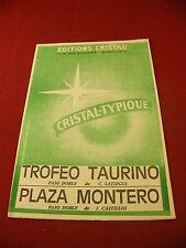 Partition Trofeo Taurino Latiegui Plaza Montero Castillos