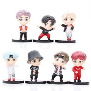 BTS J-HOPE JIMIN V SUGA 7 PCS Action Figure Gift Kids Toy Cake Topper Decor