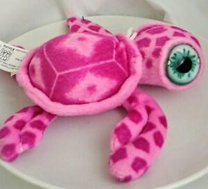 "BIG Eyes PINK Turtle 6.5"" My Plush Ocean Pet Sea Stuffed Animal BEAUTIFUL EYES!!"