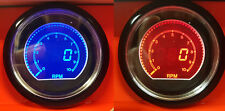 60mm EVO Car Tach RPM 10000RPM Gauge Gauge Red and Blue LCD Digital Display
