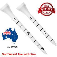 Golf Tees Wooden 83mm MeasureTee Bulk 3 1/4'' inch 100 Pack Set Gift New AU