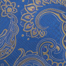 JOS. A. BANK RESERVE Blue Tan Purple PAISLEY Self-tipped Woven Silk Tie NWT