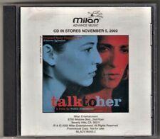 Talk To Her Soundtrack Advance Music Cd Alberto Iglesias Caetano Veloso Promo