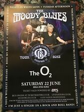 THE MOODY BLUES HIGHWAY 45 THE VOYAGE CONTINUES UK TOUR LONDON A4 POSTER
