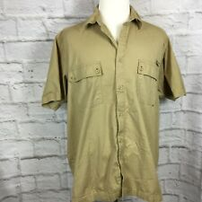 Dickies Men's 2XL Khaki Button Front Short Sleeve Shirt