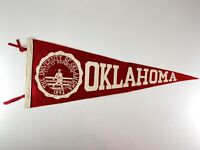 Vintage University of Oklahoma Sooners Pennant Red & White School Seal Norman