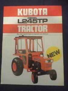 Kubota L245TP Tractor Leaflet