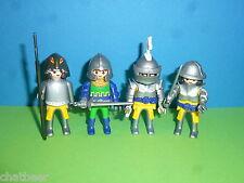 4x Einhornritter Ritter mit Waffen zu Ritterburg 4865 4866 Playmobil 001