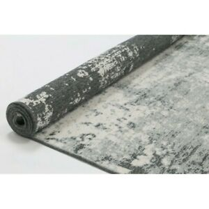 Georgia Abstract Reversible Grey Modern Rug Runner 80x300cm **FREE DELIVERY**