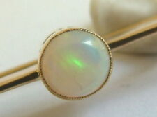BEAUTIFUL VINTAGE 15CT GOLD BAR BROOCH WITH SINGLE OPAL