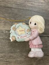 2010 Precious Moments Girl With Wreath Ornament