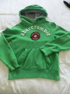Boys Green  Abercrombie Sweatshirt Hoodie Top Size L