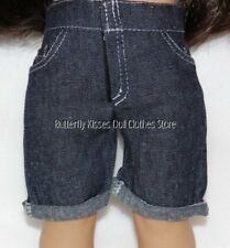 Denim Knee Hi Cuffed Shorts 18 in Doll Clothes Fits American Girl