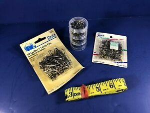 Vintage Sewing Lot Dritz Quilting Safety Pins Tape Measure Hooks Clasps