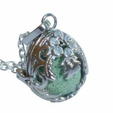 Essential Oil Diffuser Necklace perfume aromatherapy locket 7 lava stone dragon