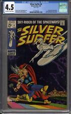 Silver Surfer #4 CGC 4.5 (OW-W) Classic Cover Thor & Loki appearance