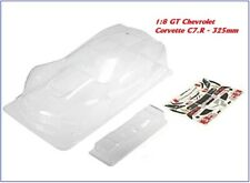 Carrozzeria Body 1:8 GT Chevrolet Corvette C7.R - 325mm - Clear for GTX8 MGT7