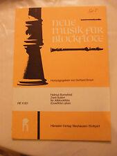 Partition Neue Musik fur Blockflote Flûte à Bec Gerhard Braun HE 11 101