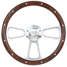 1964 -1965 Chevy Chevelle, El Camino Wood Steering Wheel w/SS Horn and Boss Kit