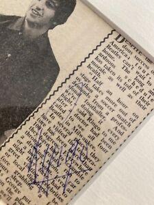 The Beatles  Ringo signed newspaper. Framed
