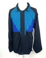 Field & Stream Vintage Mens XXL Long Windbreaker Jacket Coat Hood Vented Black
