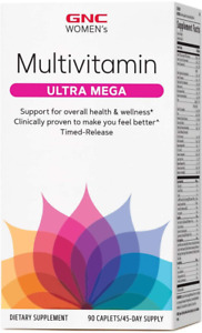GNC Women's Ultra Mega Multivitamin 90 Caplets Women Wellness